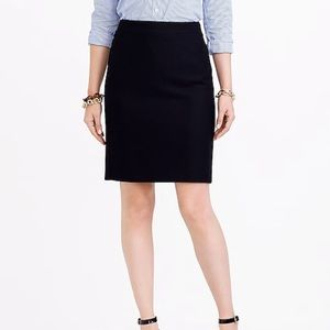 J. Crew Factory Black Wool Pencil Skirt Y3326